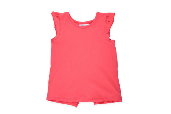 "COLORED ORGANICS Girl Flutter Tee - ""Coral"""