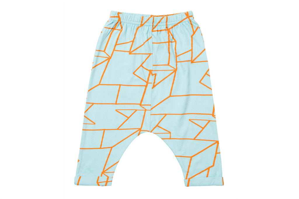 "BAOBAB Baby Rapper Pants - ""Blue Geo"""
