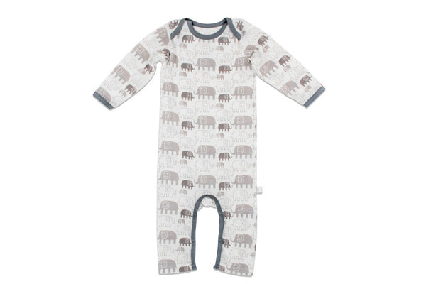 "BESTAROO Baby Coverall - ""Grey Elephants"""