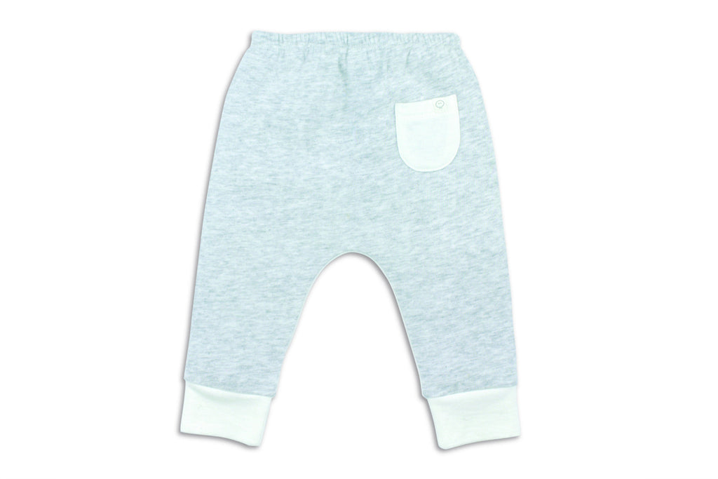 "MORI Baby Yoga Pants - ""Grey/White"""