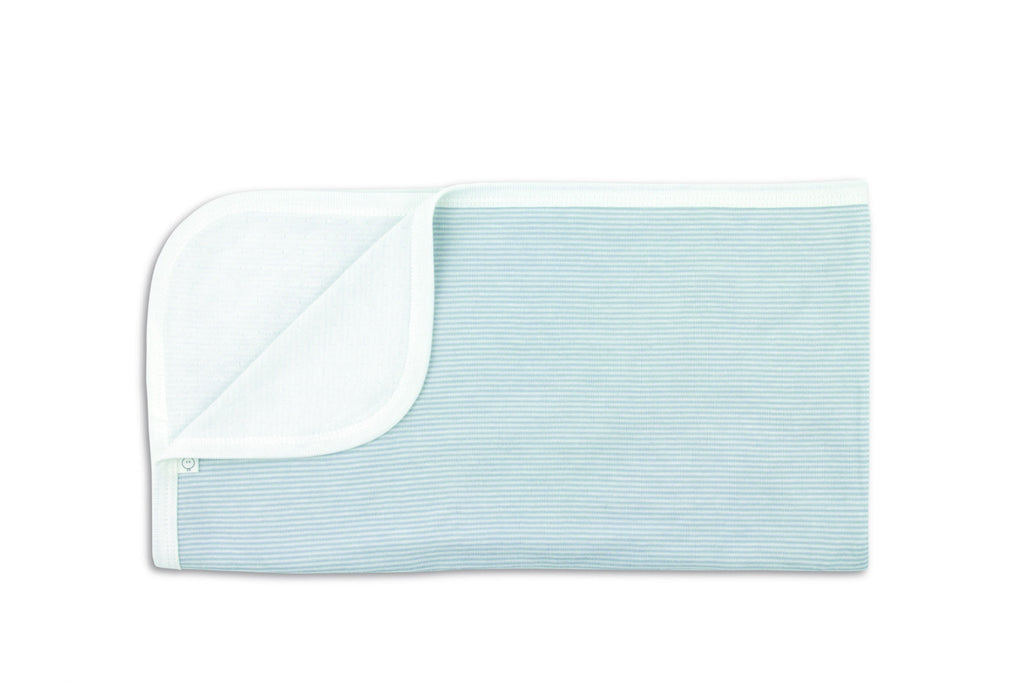 "MORI Blanket - ""Blue Stripe"""