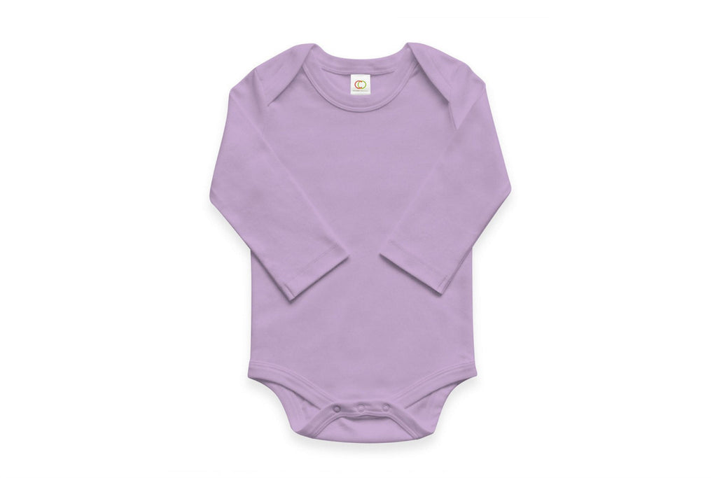 "COLORED ORGANICS Baby Long Sleeve Onesie - ""Lilac"""