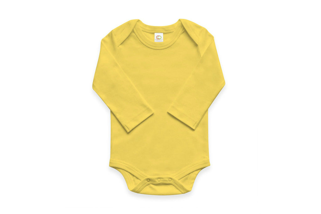 "COLORED ORGANICS Baby Long Sleeve Onesie - ""Dandelion"""