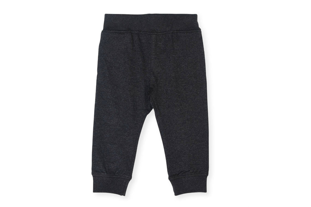 "COLORED ORGANICS Baby Mila Jogger - ""Heather Black"""