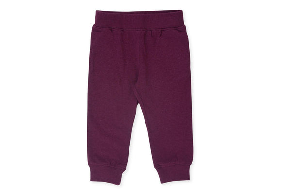 "COLORED ORGANICS Baby Mila Jogger - ""Heather Mulberry"""