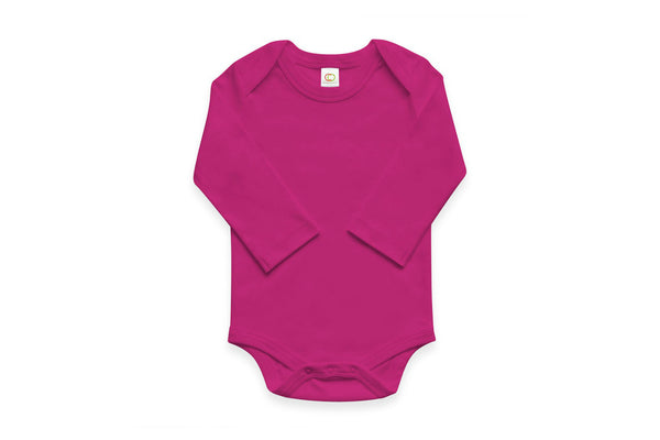 "COLORED ORGANICS Baby Long Sleeve Onesie - ""Orchid"""