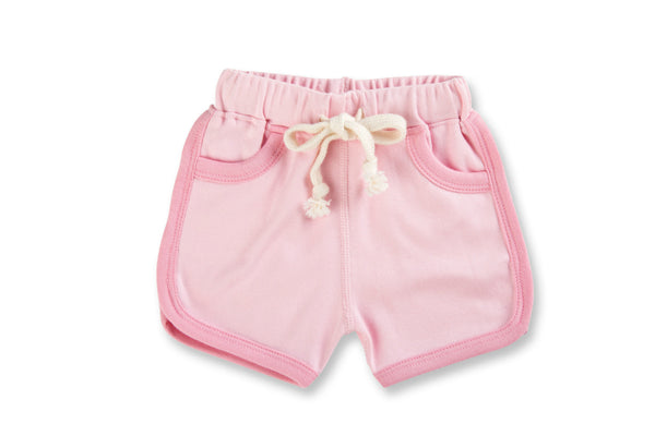 "SAPLING Baby Shorts - ""Heather Pink"""