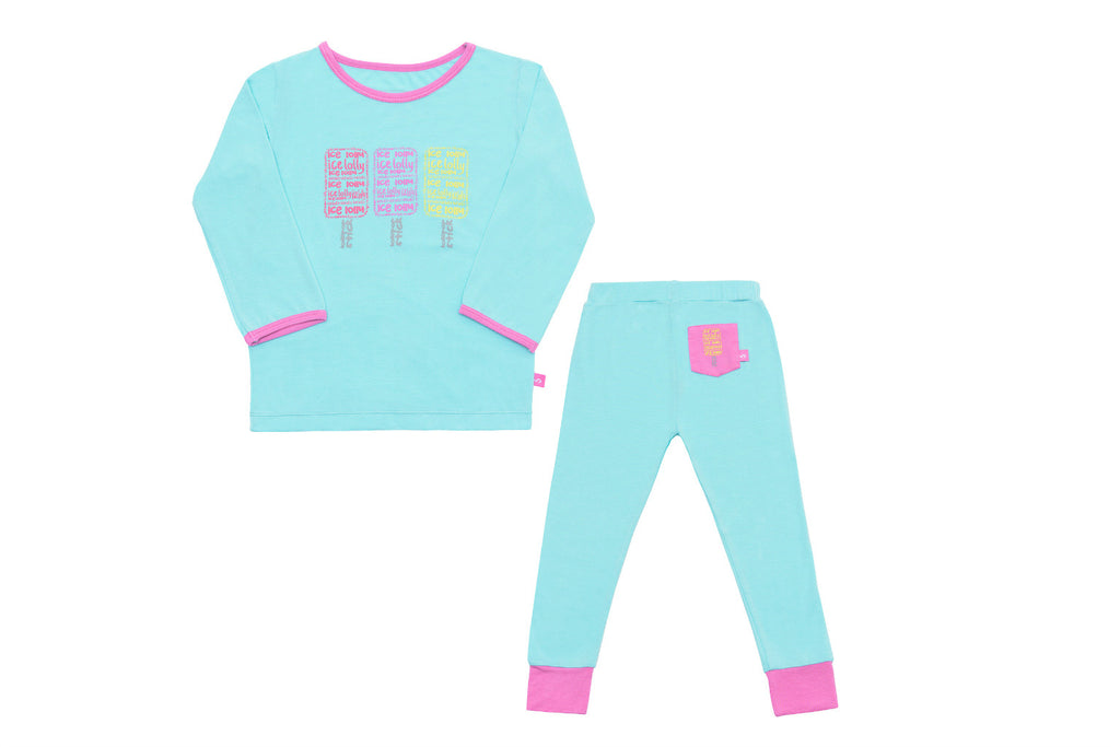 "SNUGALICIOUS Girl PJs - ""Ice Popsicle"""