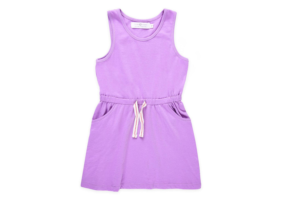 "COLORED ORGANICS Girl Josie Tank Dress - ""Purple"""
