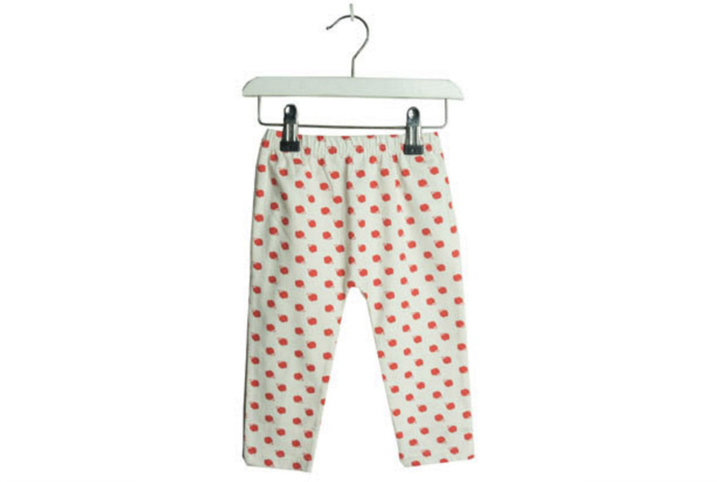"BROKEN TRICYCLE Baby Leggings - ""Red Apple"""