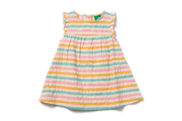 "LITTLE GREEN RADICALS Girl Frill Dress - ""Salt Water Taffy"""