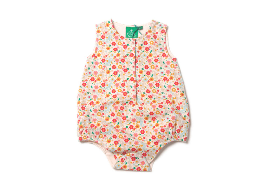 "LITTLE GREEN RADICALS Baby Bubble Onesie - ""Secret Seahorse"""