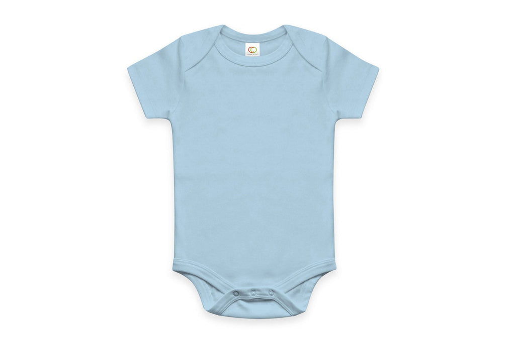 "COLORED ORGANICS Baby Short Sleeve Onesie - ""Sky"""