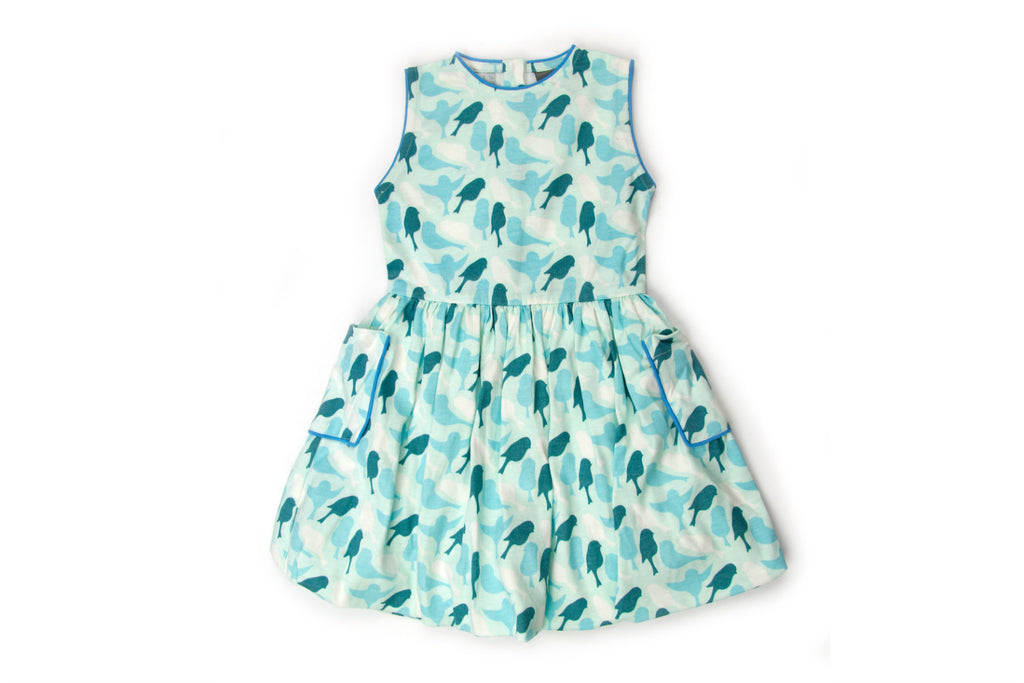 "KATE QUINN Girl Sleeveless Bubble Dress - ""Sparrow"""