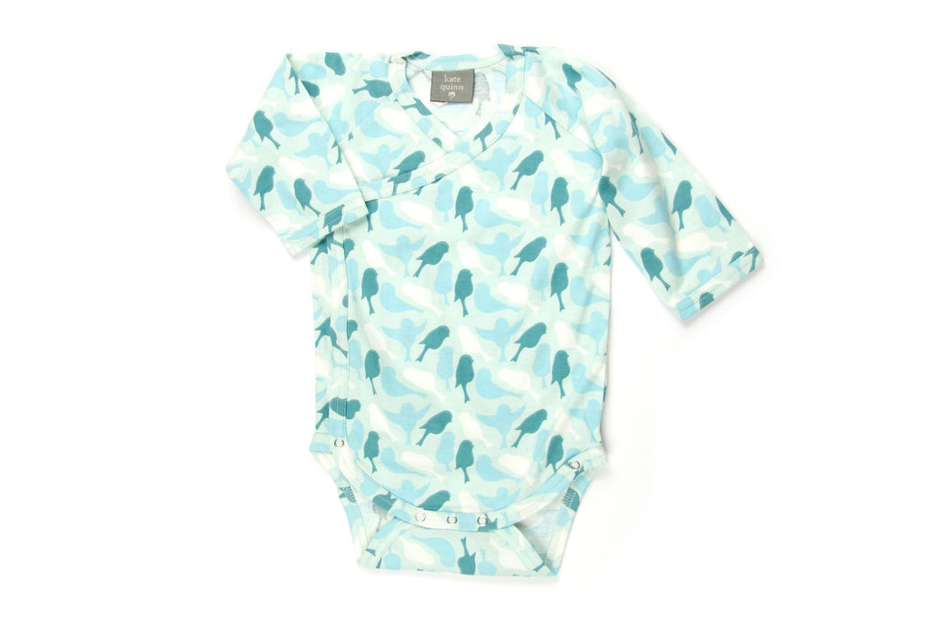 "KATE QUINN Baby Long Sleeve Onesie - ""Sparrow"""