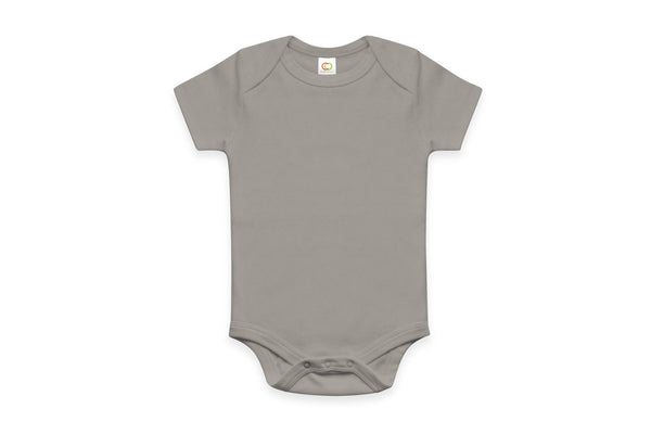 "COLORED ORGANICS Baby Short Sleeve Onesie - ""Storm"""
