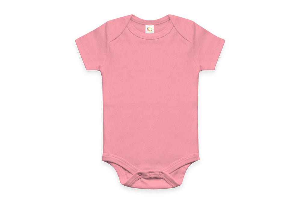 "COLORED ORGANICS Baby Short Sleeve Onesie - ""Teaberry"""