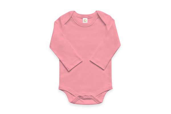 "COLORED ORGANICS Baby Long Sleeve Onesie - ""Teaberry"""