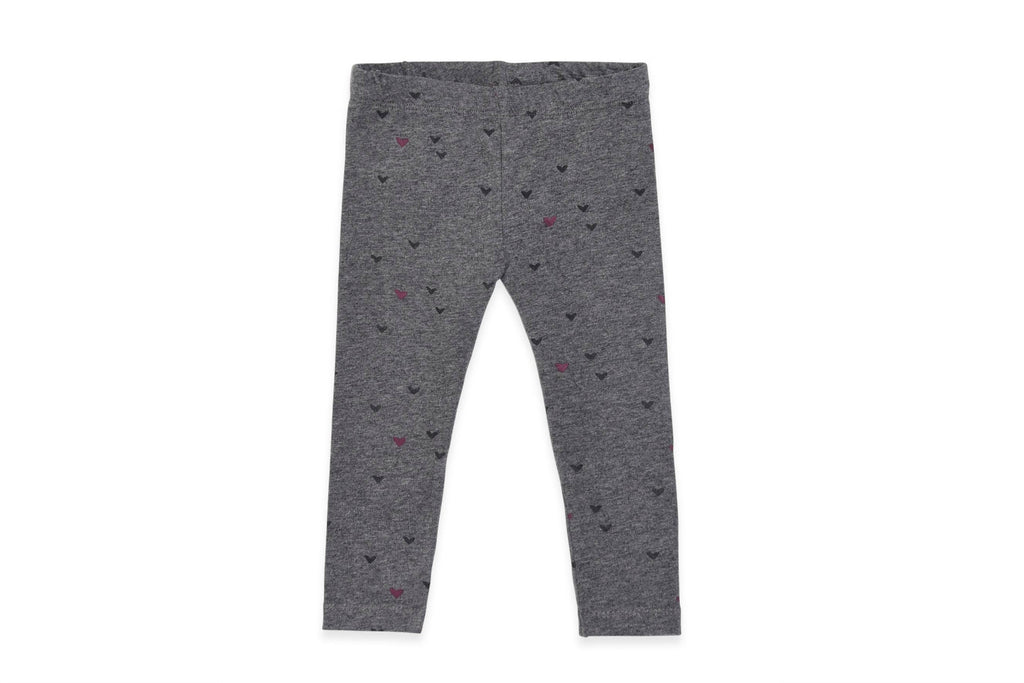 "COLORED ORGANICS Baby Tera Leggings - ""Grey Hearts"""