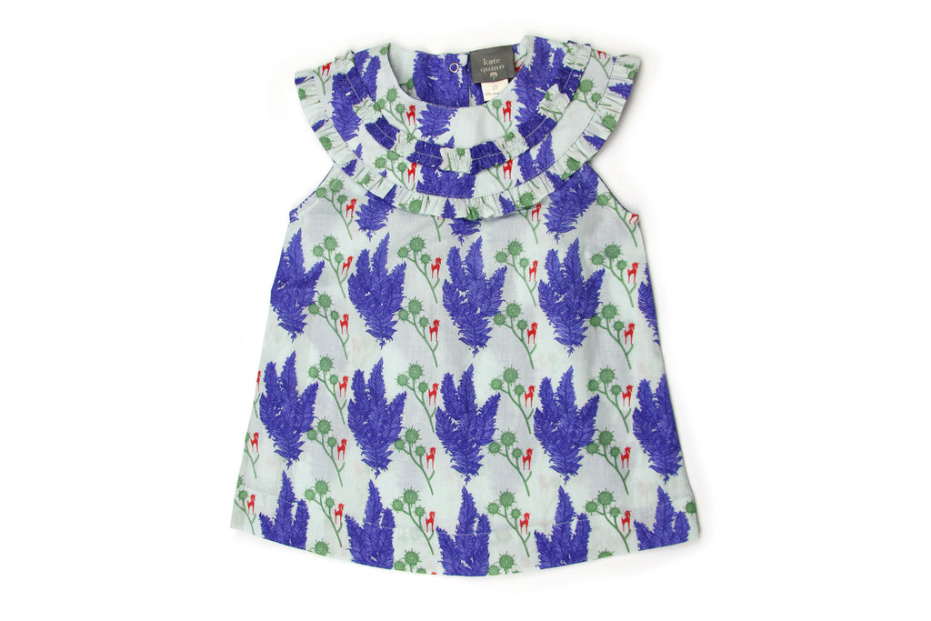 "KATE QUINN Girl Sleeveless Ruffle Tunic - ""Unicorn"""