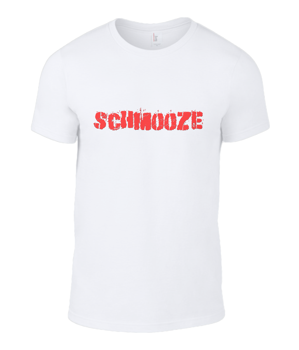 Round Neck T-Shirt - Schmooze - Lokshen Pudding UK - White