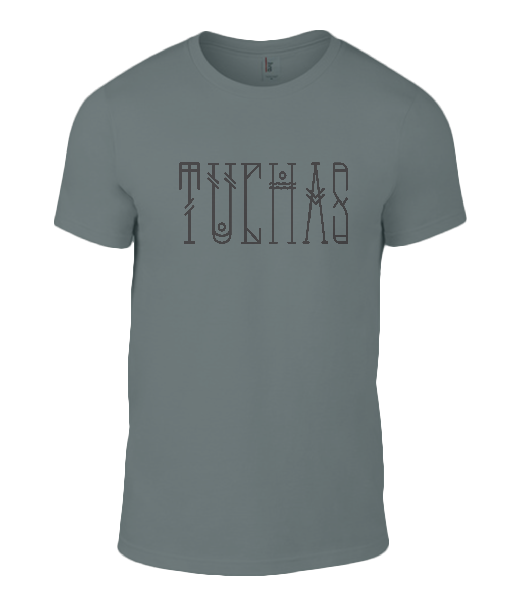 Round Neck T-Shirt - Tuchas - Lokshen Pudding UK - Grey