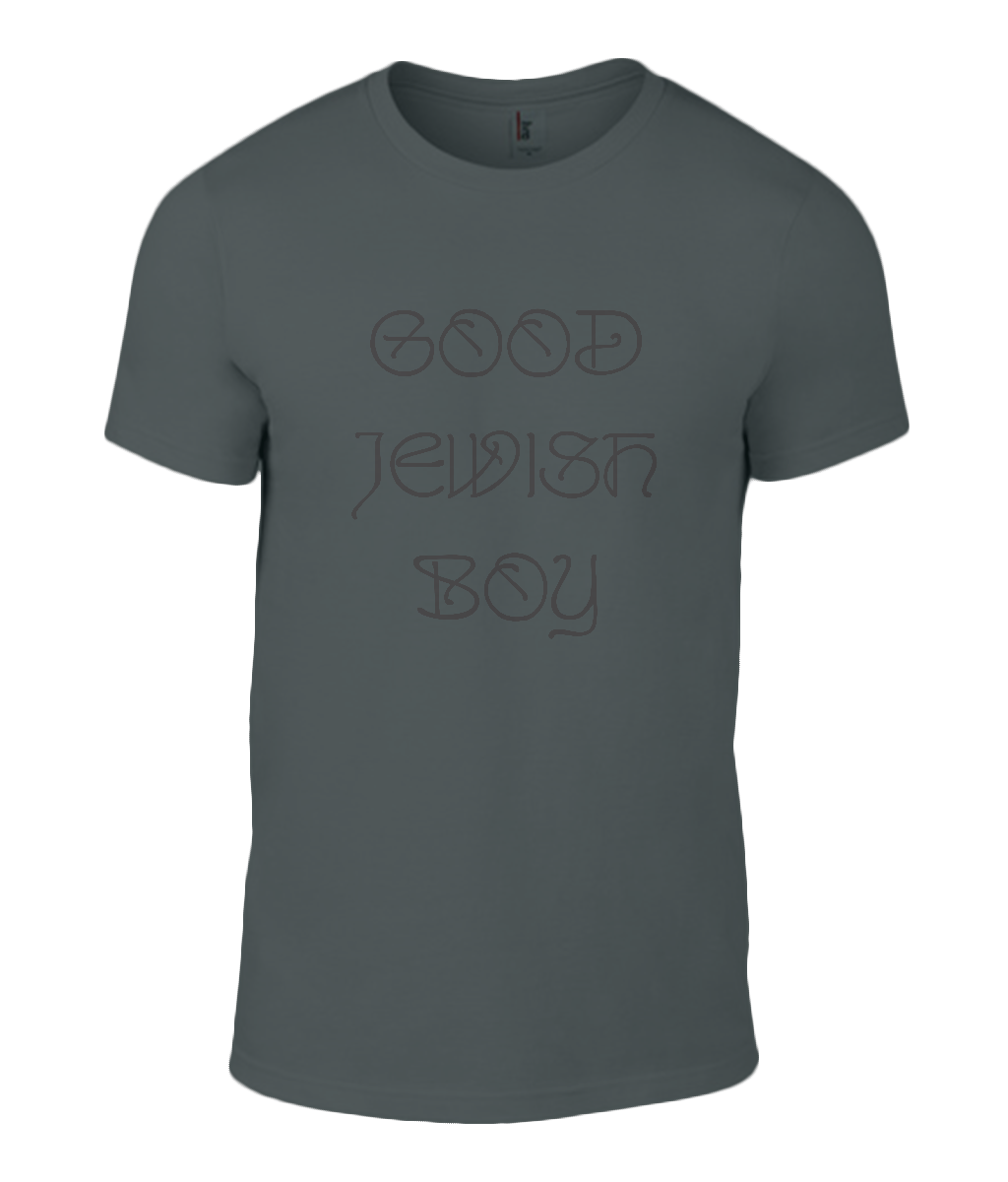 Round Neck T-Shirt - Good Jewish Boy - Lokshen Pudding UK - Black