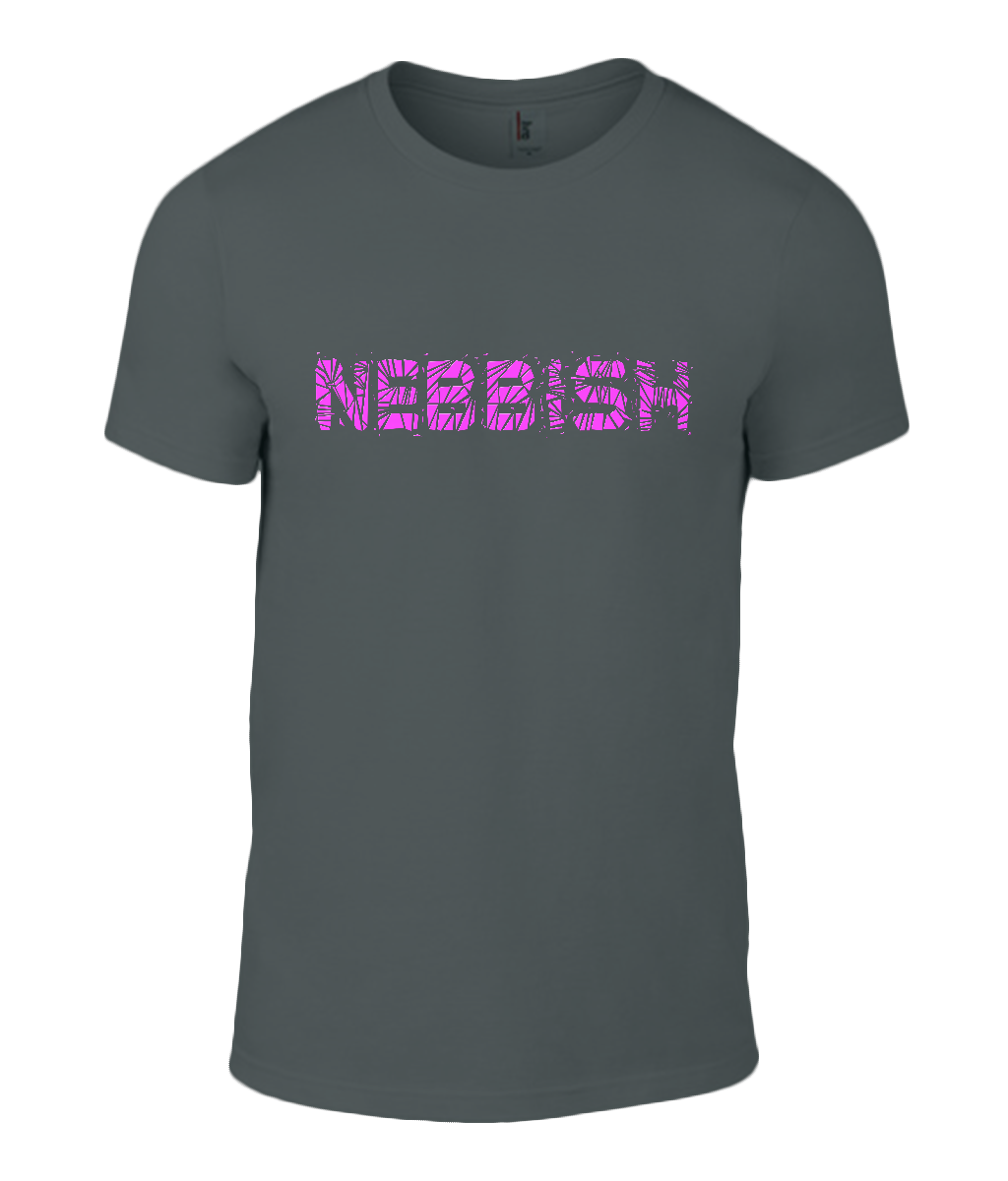 Round Neck T-Shirt - Nebbish - Lokshen Pudding UK - Black