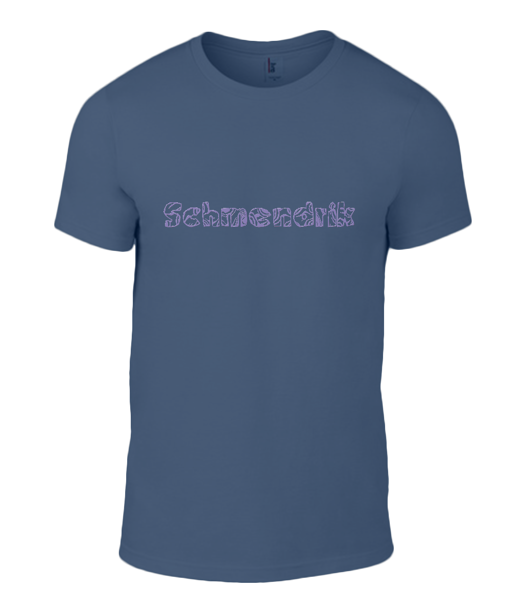 Round Neck T-Shirt - Schmendrick - Lokshen Pudding UK - Navy