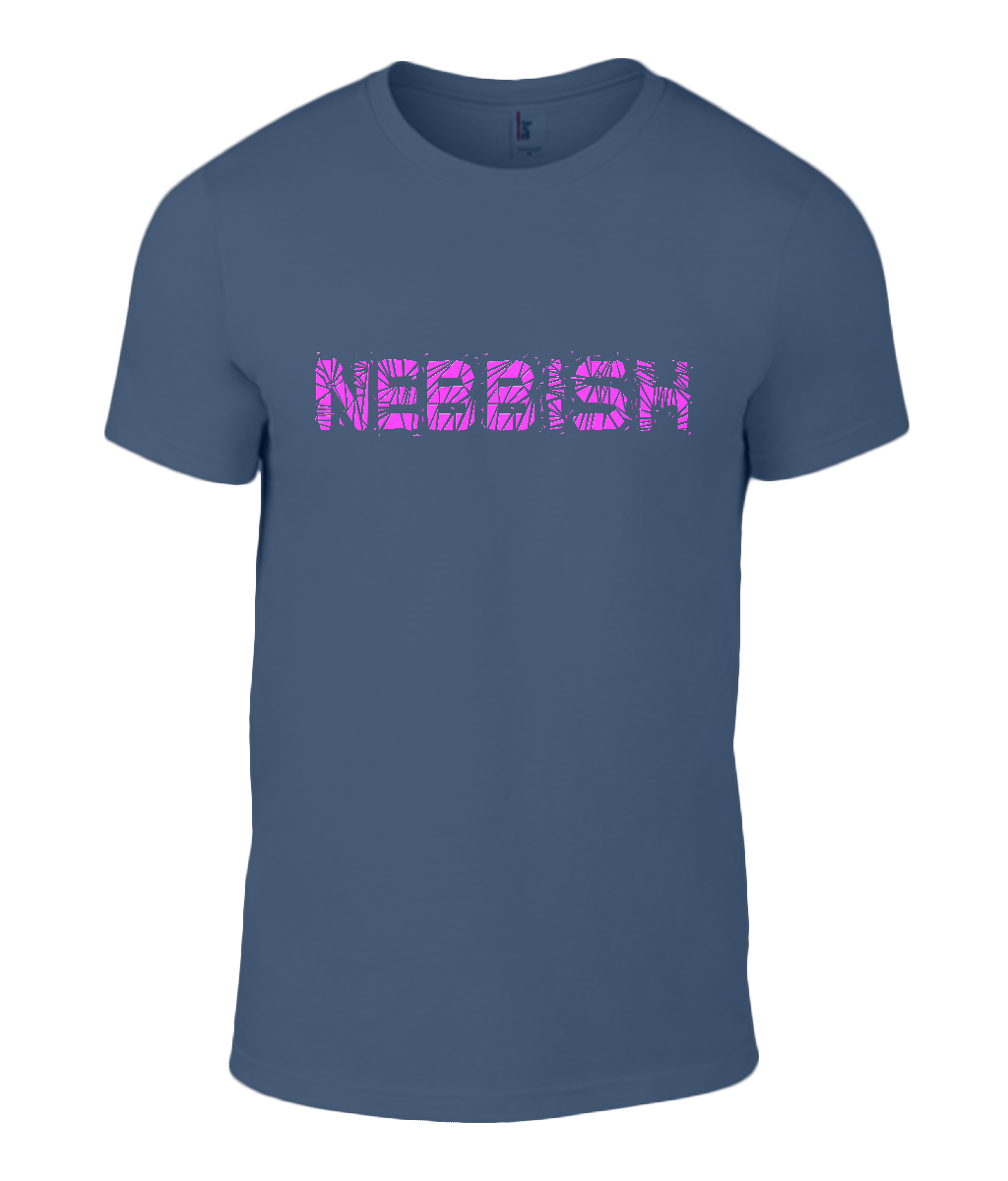Round Neck T-Shirt - Nebbish - Lokshen Pudding UK - Navy