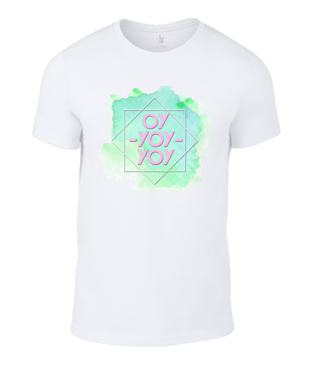Round Neck T-Shirt - Oy Yoy Yoy - Lokshen Pudding UK - White