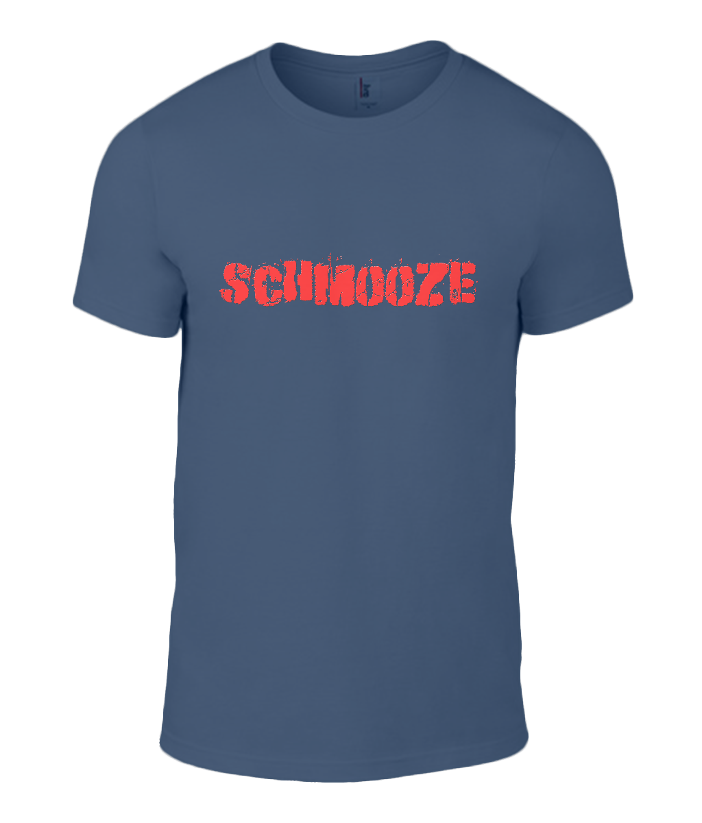 Round Neck T-Shirt - Schmooze - Lokshen Pudding UK - Navy