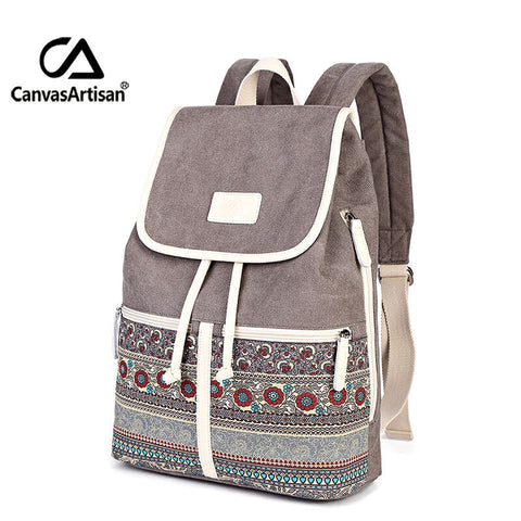 CanvasArtisan Retro Stylish Women Backpack