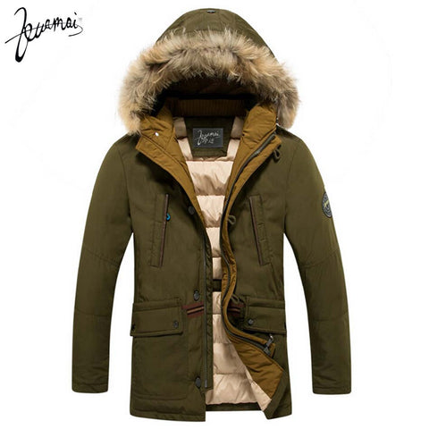KUAMAI Warm Fashion Coat w/ Fur
