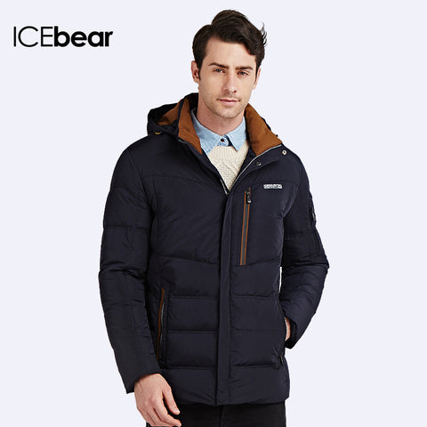 ICEbear  Casual Warm Parka Coat w. White Duck filling
