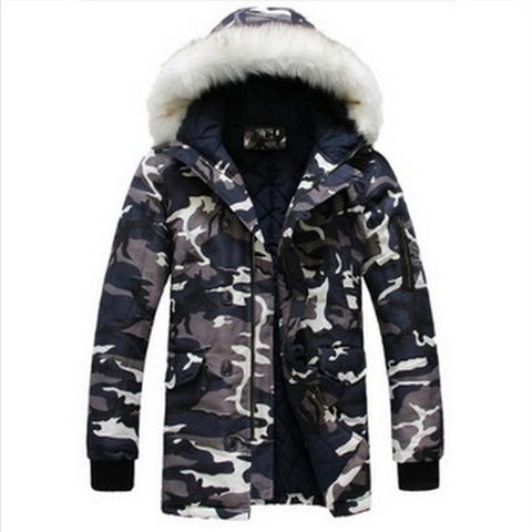 Camouflage Warm Long Parka Men Coat