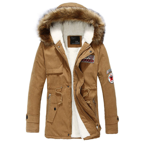 Slim Long Warm Men Casual Coat