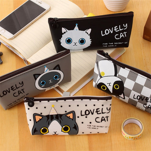 Pen box Lovely Cartoon Cat Pencil Case