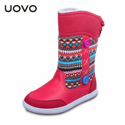 UOVO Girl boots colorful knitting wool