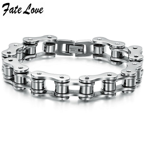 Men's Bike Chain Titanium Steel Bracelet