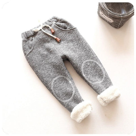 Baby Girls Sweet Warm Velvet Pants