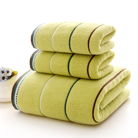 3 Towels Set w/ Colorful Lines