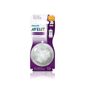 Philips Avent Natural Teat One Slot Variable Flow - 3months+ (2Pc. Pack)
