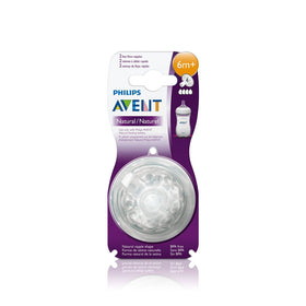 Philips Avent 1 Hole Newborn Flow Natural Teat (2 Pieces)