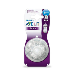 Philips Avent Natural Teat 2 Holes Slow Flow (Clear)