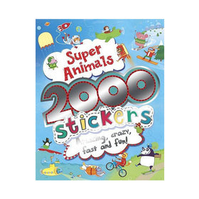 2000 Stickers Super Animals