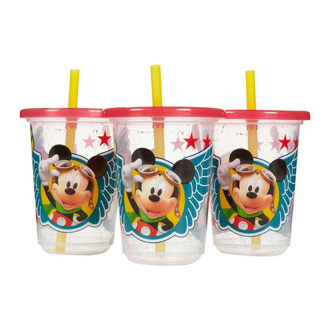 The First Years Mickey T&T 10 ounce Straw Cup, Pack of 3 (Multicolor)