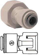 "1/2"" Pushfit x 1/2"" BSP Female Adaptor - Cone End"