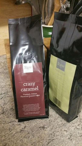 10 x 227g Bags Of Artisan Robusta Flavoured Coffee - Crazy Caramel Flavour