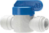 10mm Pushfit John Guest Shut Off Valve (Speedfit To Speedfit Connector)